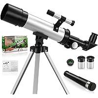 Telescopio monocular para niños y adultos principiantes de astronomía, telescopio refractor astronómico de 50 mm/360 mm…