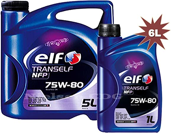 Elfo tranself Fen 75 W80 Gear aceite 1 x 5L + 1L=6 L: Amazon ...