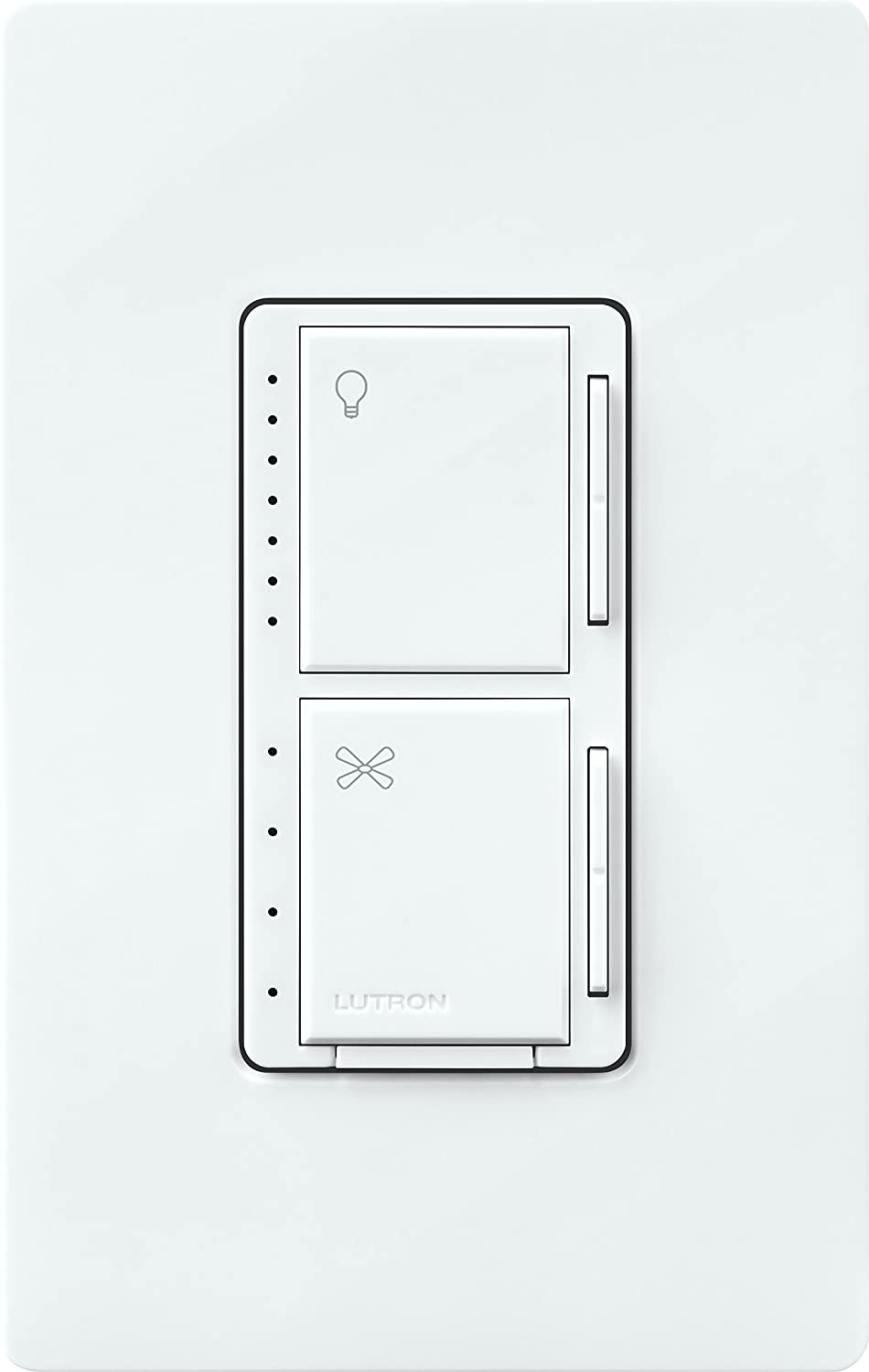 Lutron Maestro Fan Control And Light Dimmer For Dimmable Leds As 3 Way Switch In Addition Single Pole Double Wiring Incandescent Halogen Macl Lfq Wh White