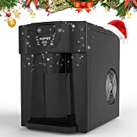 KUPPET 2 in 1 Countertop Ice Maker, Produces 36 lbs Ice in 24 Hours, Ready in 6min, LED Display