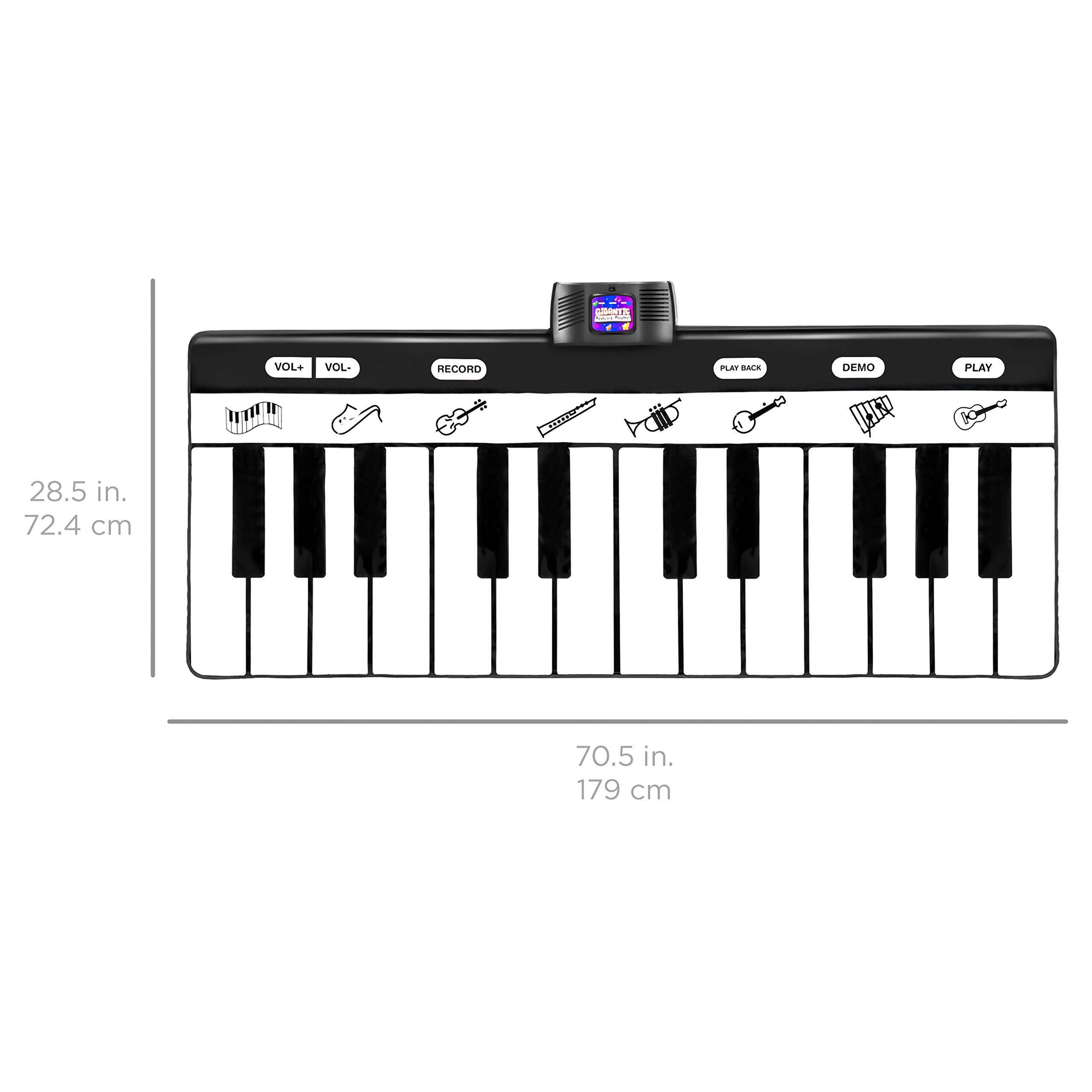 Best Choice Products 71-Inch Vinyl 24-Key Keyboard Playmat with 8 Settings and Recorder, Black/White by Best Choice Products (Image #6)