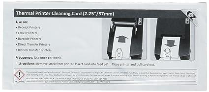 Tarjeta de limpieza para impresora térmica de 63,5 x 152 mm (25 ...