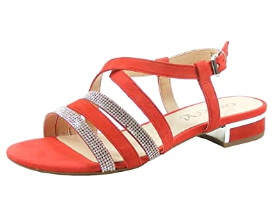 Caprice 9-28110-20 Damen Sandalen Sandaletten, Schuhgröße:40;Farbe:Rot