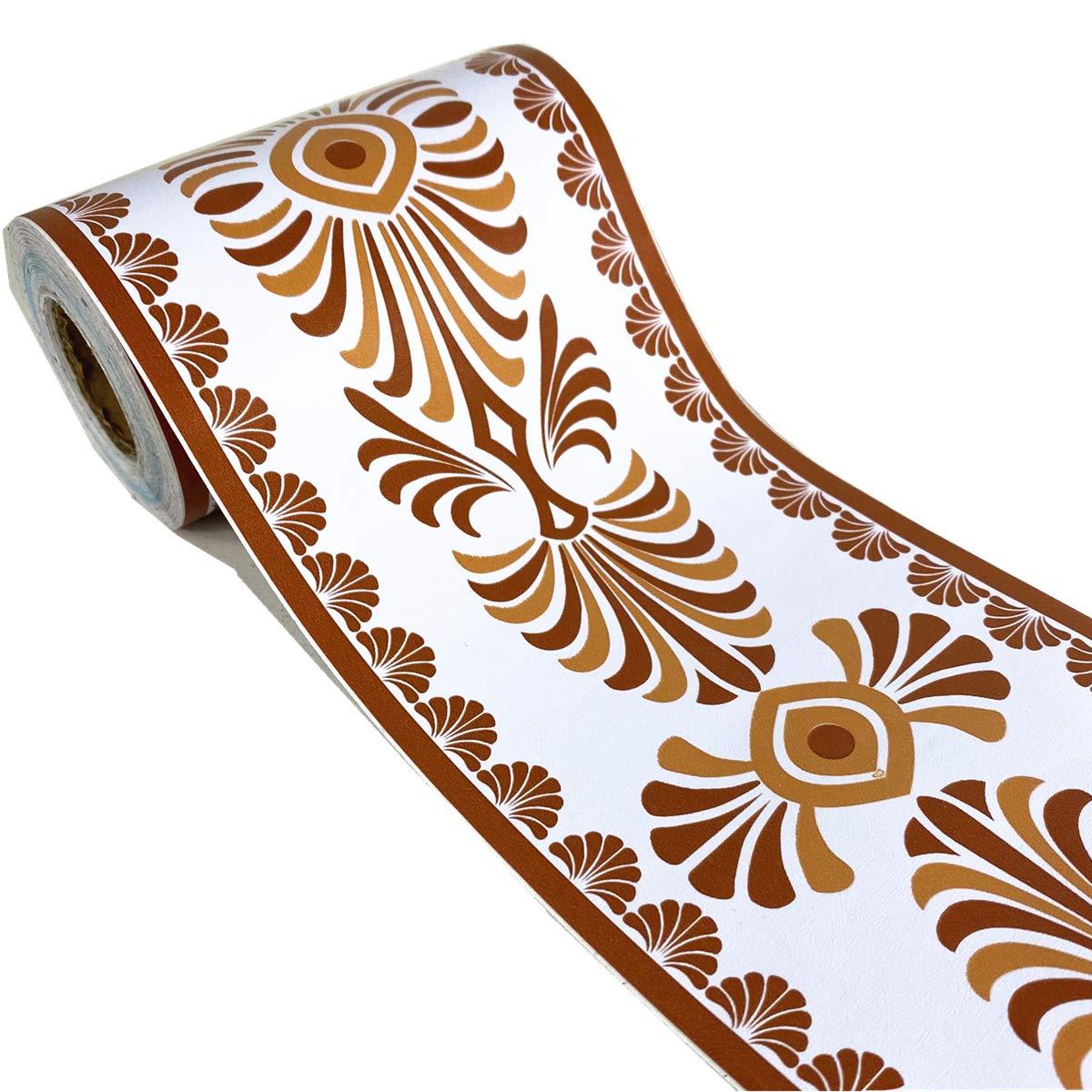 cocina 4 pulgadas x 32.8 pies ba/ño multicolor Adhesivo de papel pintado con dise/ño floral para decoraci/ón del hogar