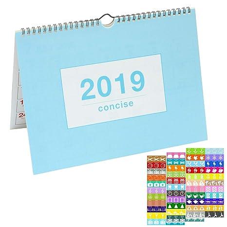 Amazon.com: Elcoho - Agenda mensual de escritorio ...