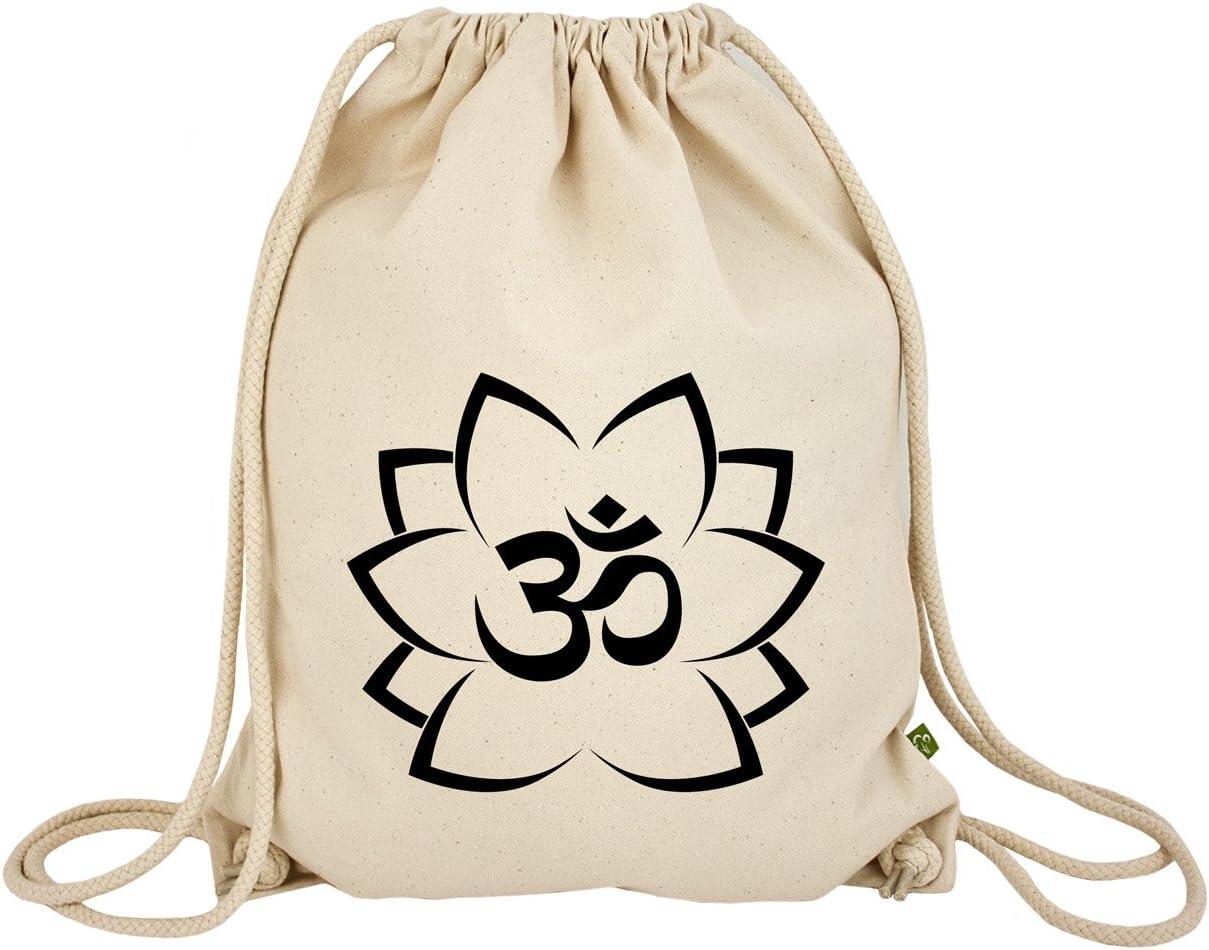 impre ssionata Turn Bolsa Mochila Om en Lotus, 100% algodón ...