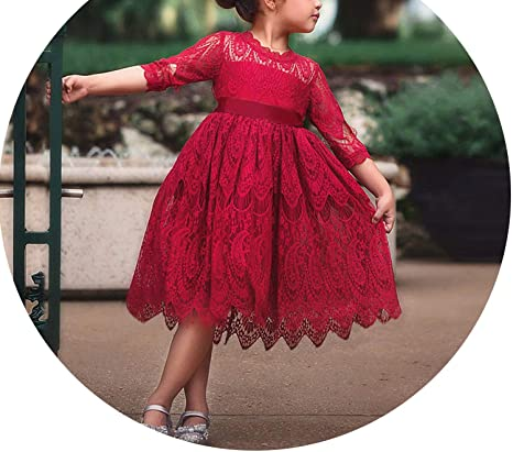 f6470b5c0 Image Unavailable. Image not available for. Color: Princess Girl Christmas  Party Dress Tulle Costume for Kids Clothes ...