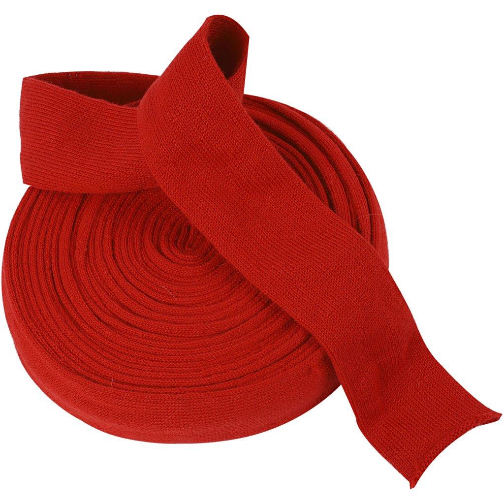 Tubolare di maglia, l: 60 mm, rosso natalizio, 10m Creativ Company