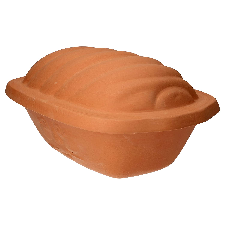 Br/ötchen l/änger frisch I gro/ßer Keramik-Brotkasten unglasiert 16,5 x 24,3 x 36 cm MamboCat Terrakotta-Topf Berti zur Brot-Aufbewahrung I 100/% Natur Ton-Beh/älter mit Deckel h/ält Toast u
