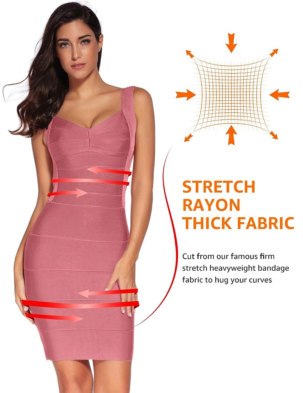 602b259b0b5 Amazon.com  Meilun Women s Bandage Dress Backless Stripe Sleeveless Bodycon  Party Dresses  Clothing