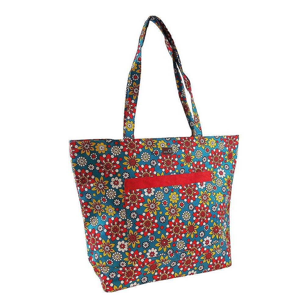 della Q Willa Shoulder Knitting Bag (19.5 inch W x 15 inch H x 6 inch D) 110 Belmont 424-1-110 by della Q (Image #1)