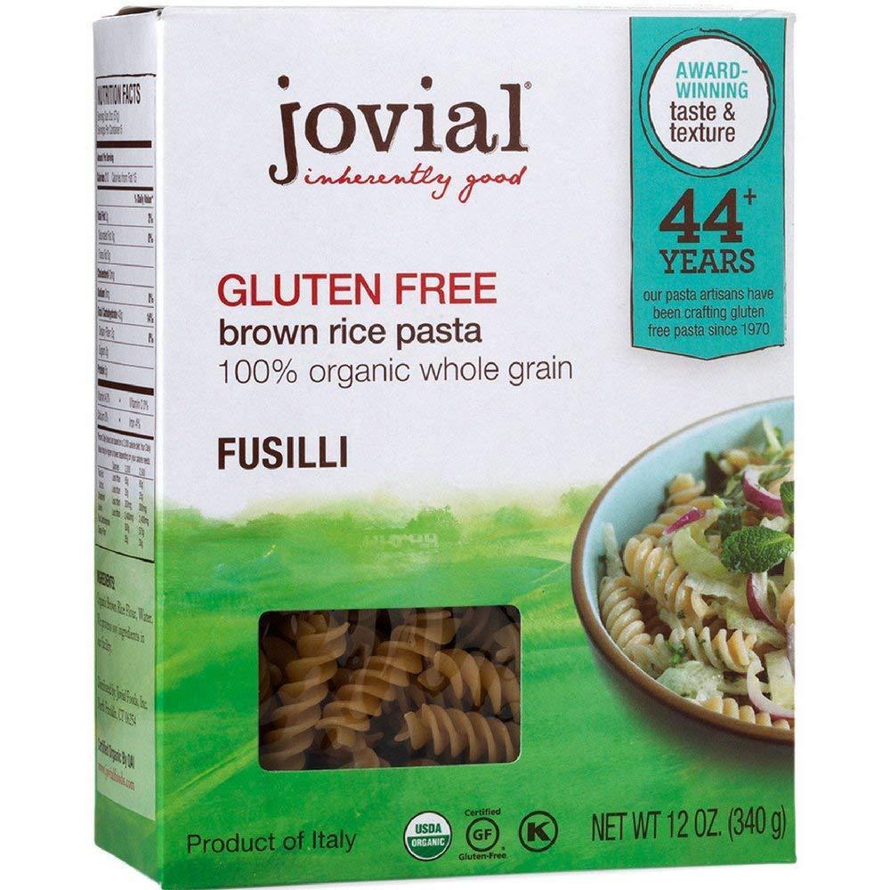 Jovial Fusilli Gluten Free Pasta, 12 oz (Pack of 6) by Jovial