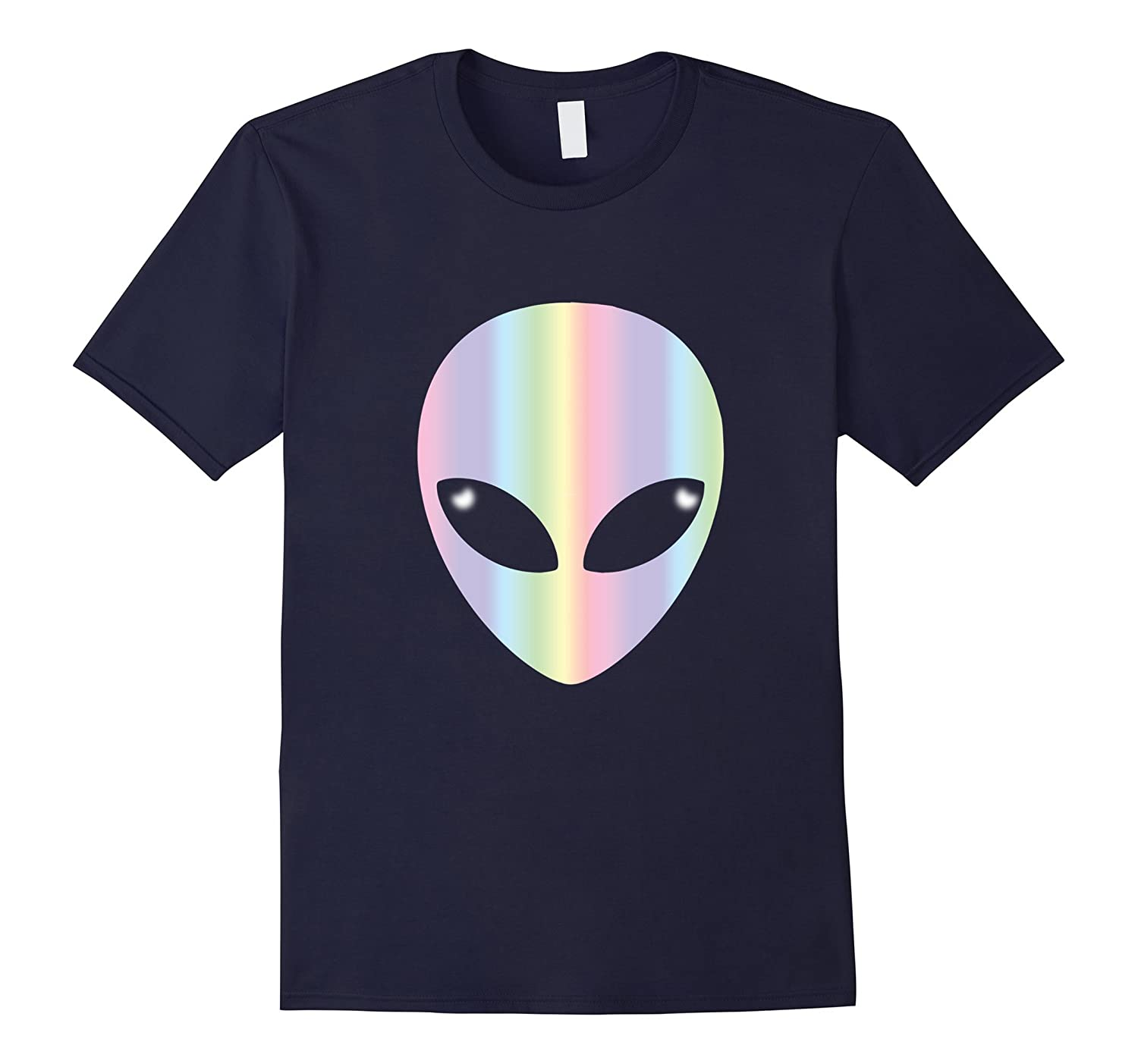 Alien Head T Shirt-Holographic Glow Effect-CL