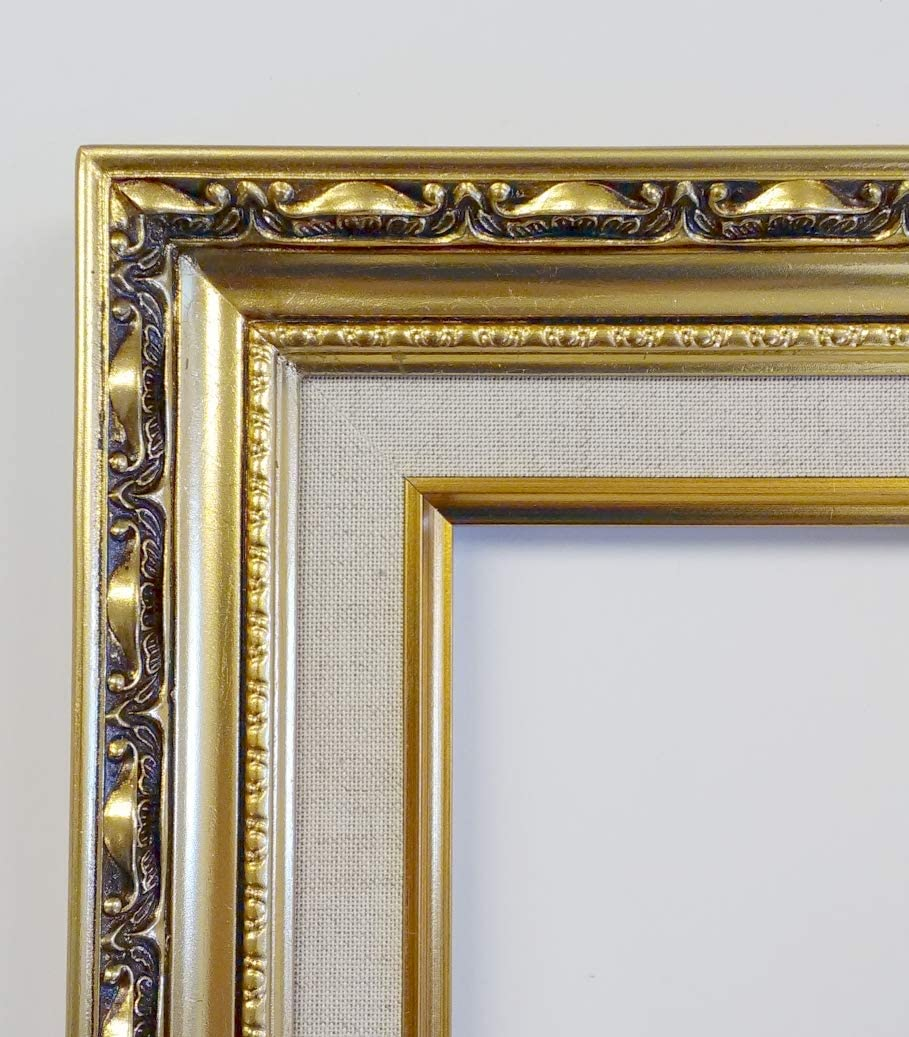 Lot of 3   11x14 Ornate Vintage Baroque Distressed Gold Painted Wooden Frame