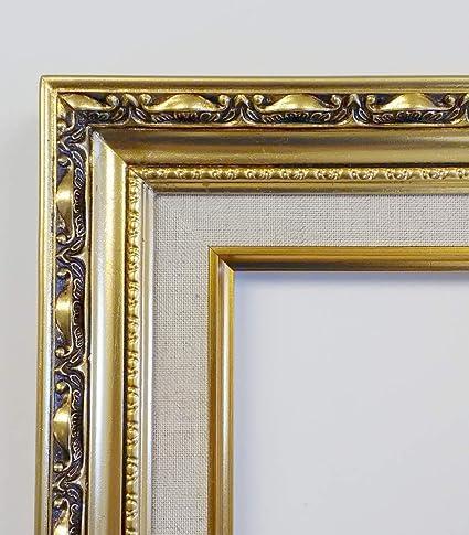f8dff074c798 Amazon.com - TP Picture Frame- 24x36 Vintage Gold Ornate Antique-Style  Baroque Classic w Linen Liner -