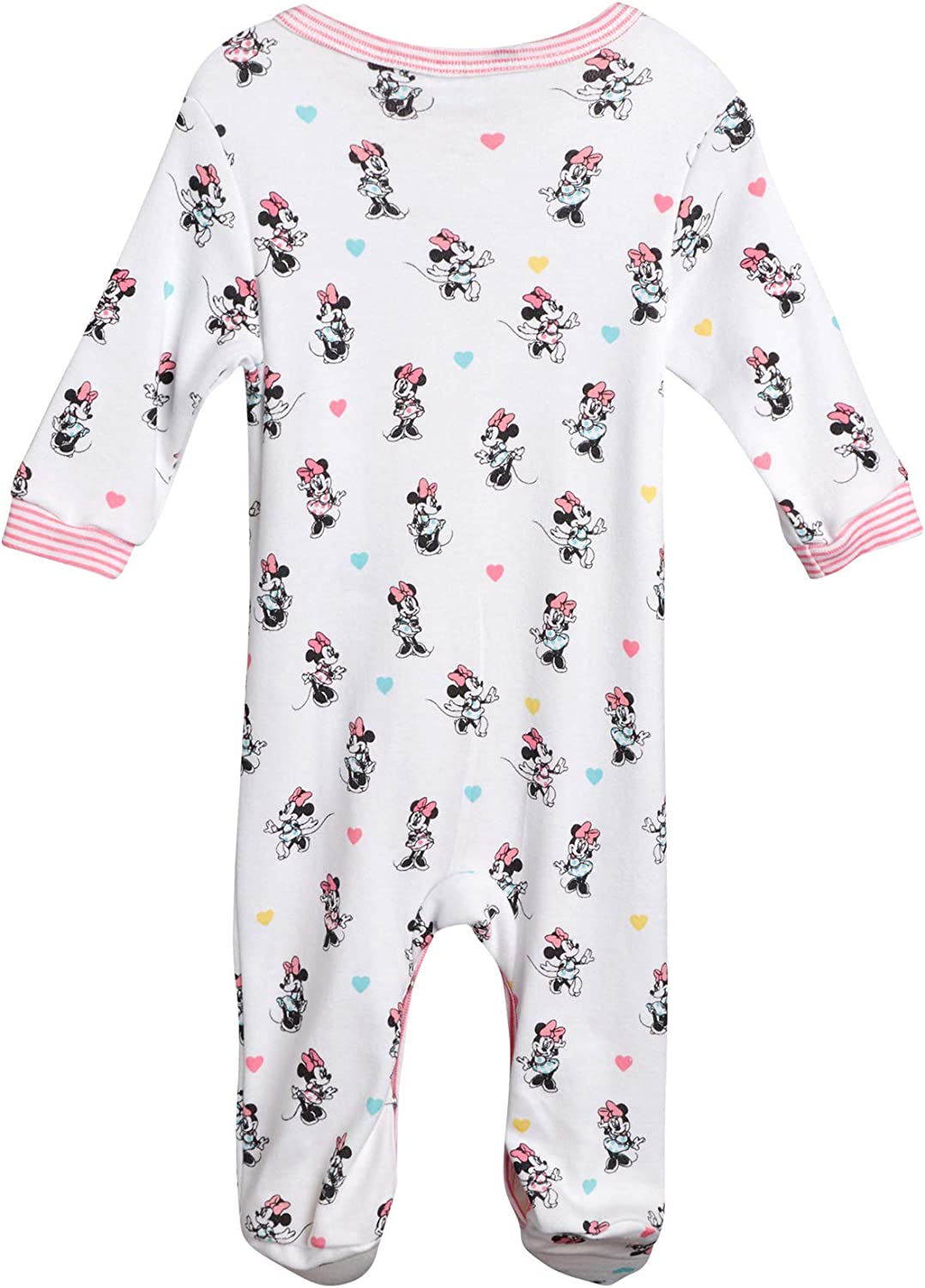 Disney Baby Girls Newborn Cotton Footed Sleep and Play Minnie Mouse Winnie The Pooh and Princess Aurora