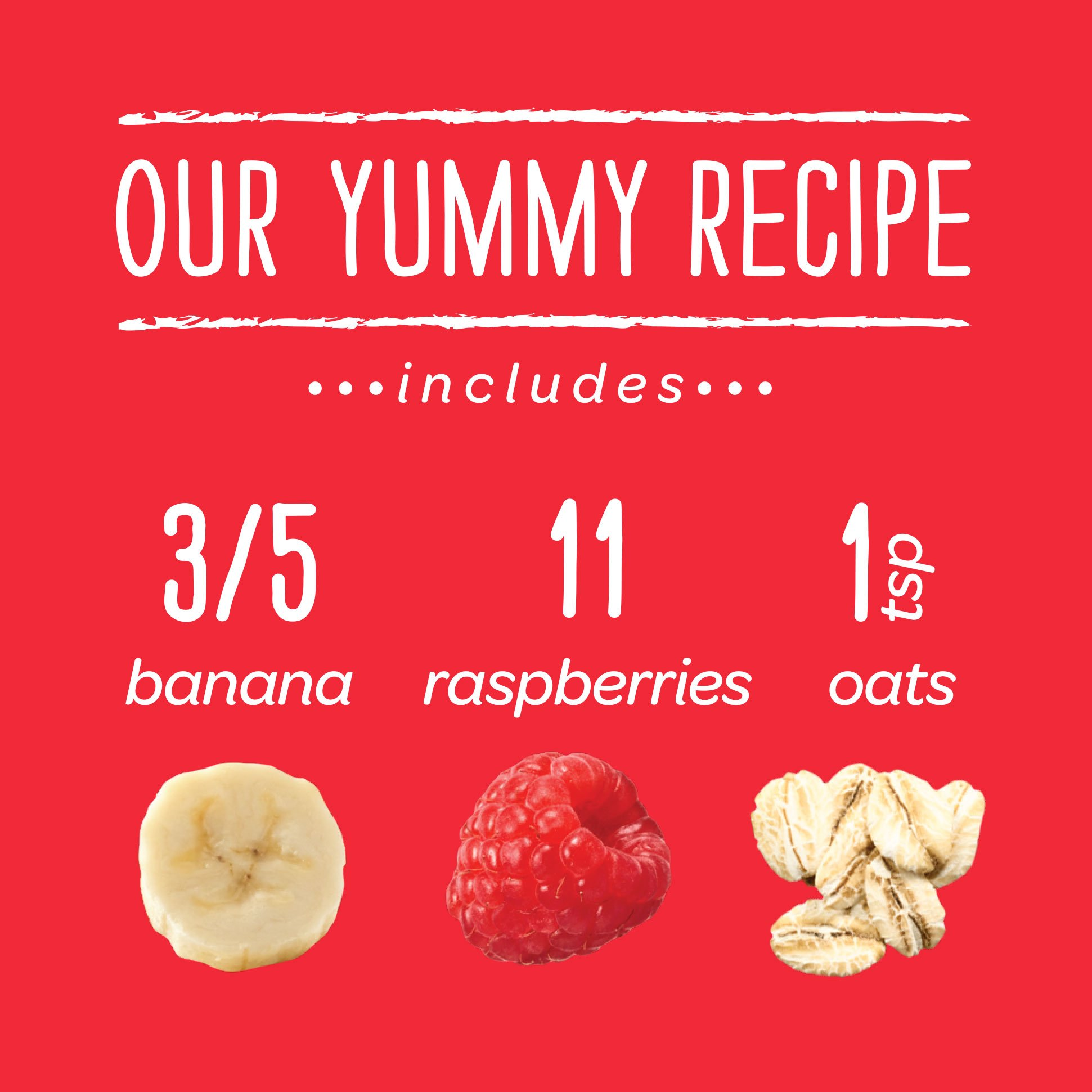 Happy Baby Organic Clearly Crafted Stage 2 Baby Food Bananas Raspberries & Oats, 4 Ounce Pouch (Pack of 16) Resealable Baby Food Pouches, Fruit & Veggie Puree, Organic Non-GMO Gluten Free Kosher by Happy Baby (Image #5)
