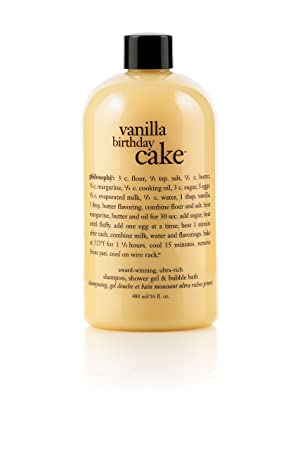 Philosophy Vanilla Birthday Cake Shampoo, Shower Gel & Bubble Bath ...