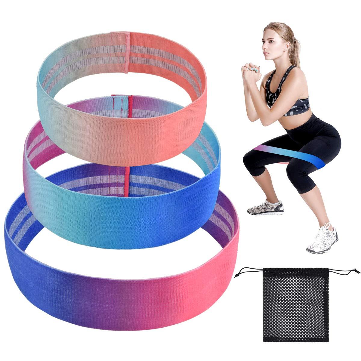 ActiveVikings Fitnessb/änder Set 3-St/ärken Fitnessband Gymnastikband Widerstandsband 1.20 m L/änge Ideal f/ür Muskelaufbau Physiotherapie Pilates Yoga Gymnastik und Crossfit