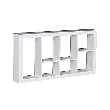 southern enterprises taylor shadowbox wall shelf white finish