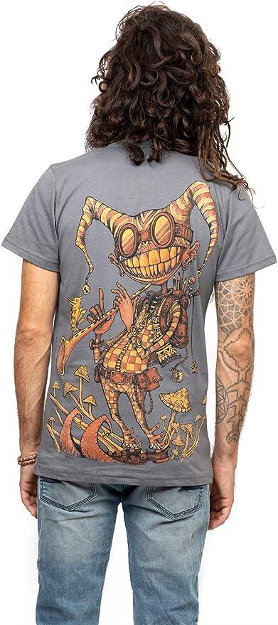 Camiseta psicodélica Fiddler con Arte gráfico Urbano - Ropa Alternativa en algodón 100% para Hombre: Amazon.es: Ropa y accesorios