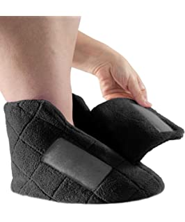 cb3e9c270b6 Extra Wide Swollen Feet Slippers - Soft Cozy Comfortable and