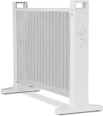 Klarstein HeatPalMica15 /• Chauffage /électrique /• Mica /• Chaleur Rapide /• 1500W /• 2 Niveaux /• Accrochage Mural /• Silencieux /• roulettes incluses /• Protection IP24 /• Blanc
