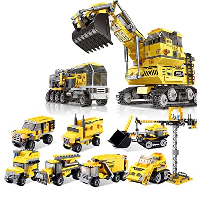 Xingbao 13002 8 in 1 Giant Excavator Sets Building Blocks 25 Styles Engineering Vehicle Changeable Bricks Educational Toys: Toys & Games