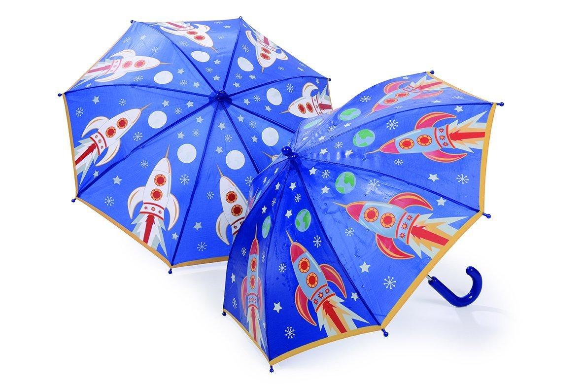Thinkpink Regenschirm Rakete für Kinder - farbwechselnd Floss and Rock FRC-29P1693
