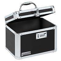 Vaultz Combination Lock Box, 7.75 x 7.25 x 10 Inches, Black (VZ00102-2)