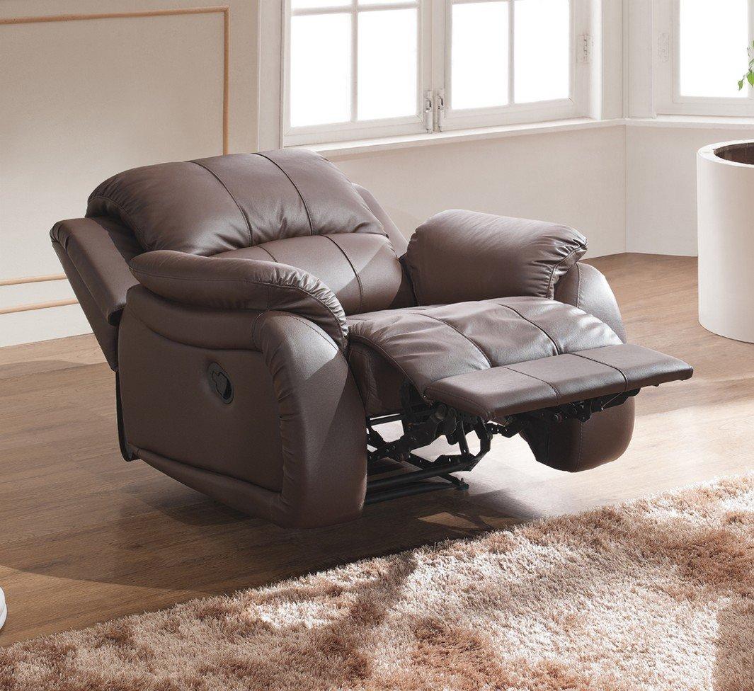 Leder Schlafsessel Relaxsessel Fernsehsessel Schlaffunktion 5129 1