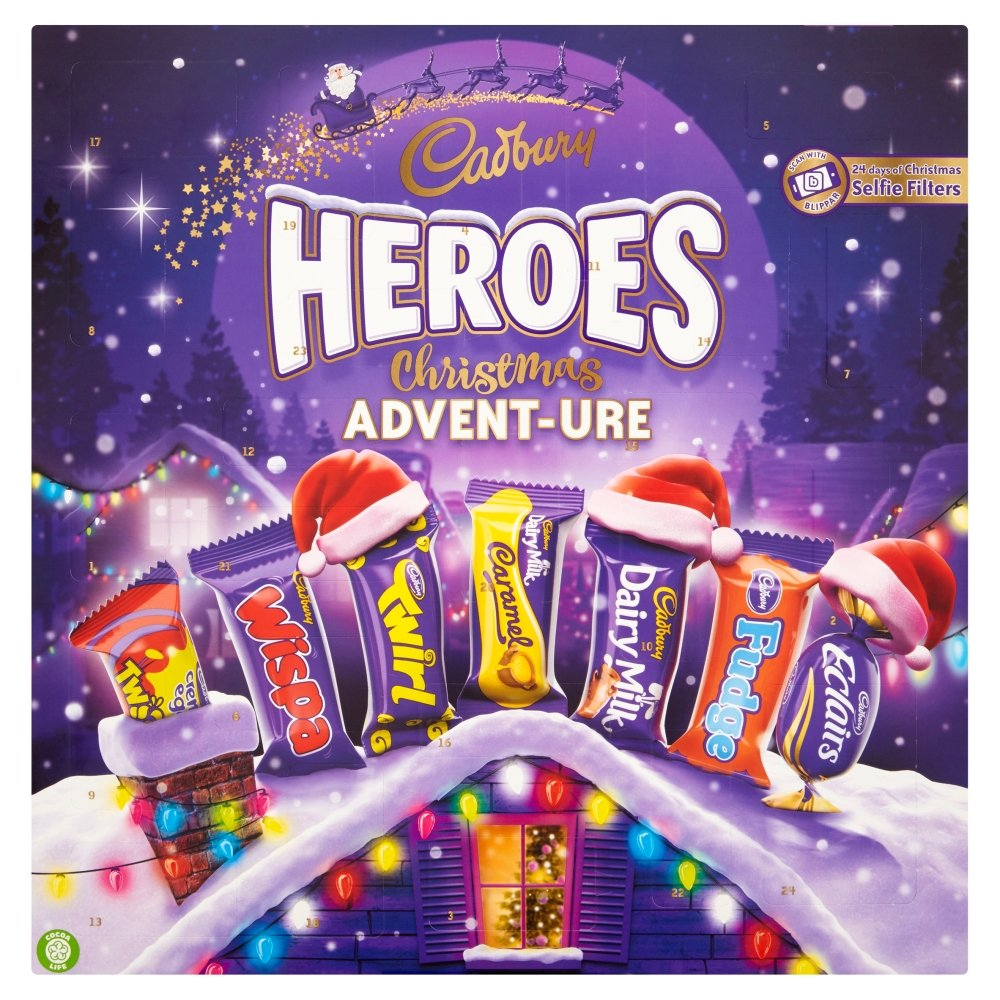 Cadbury Heroes Christmas Advent-ure Calendar, 232g