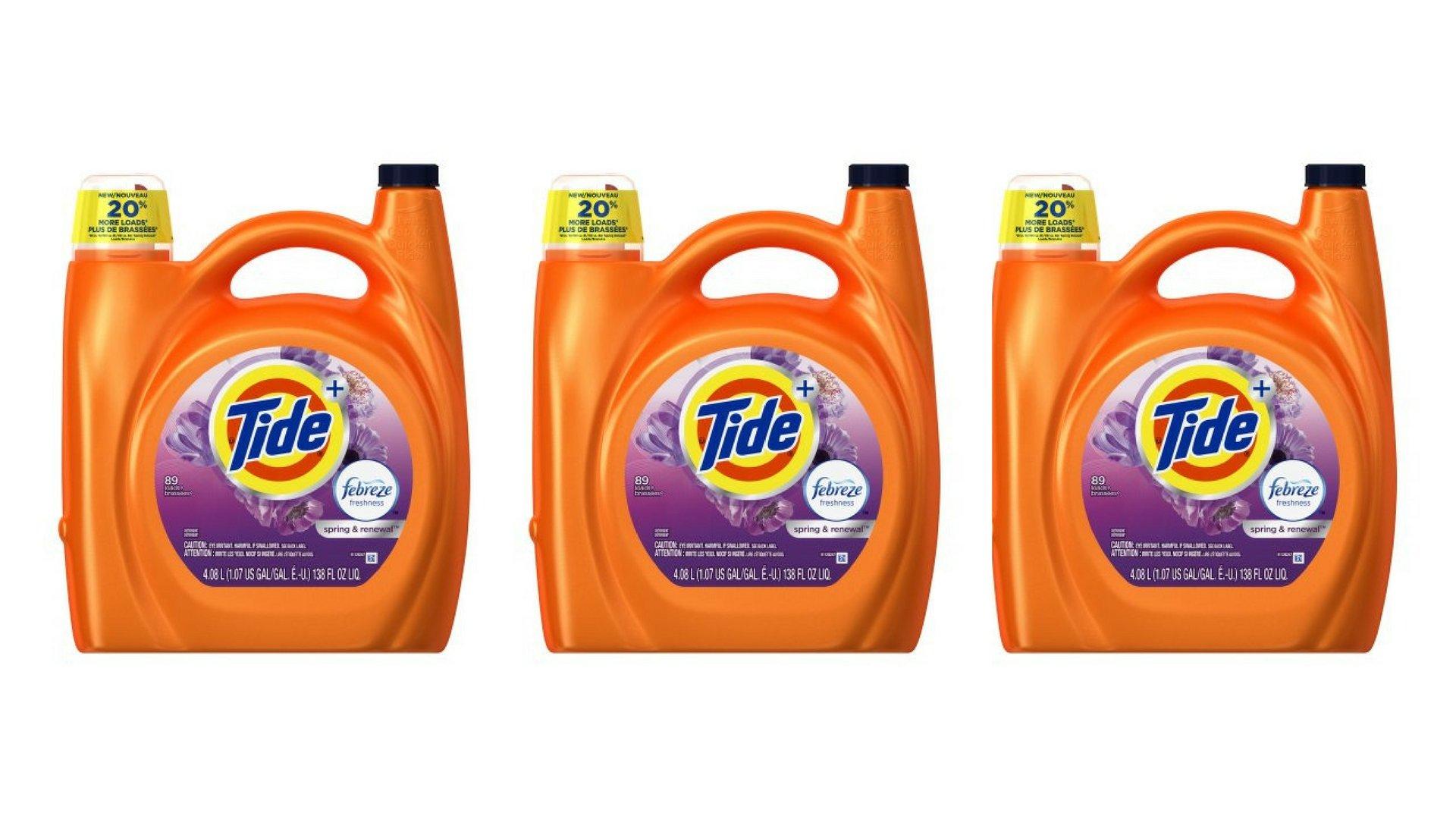 Tïde Plus Febreze Freshness Spring and Renewal Scent Liquid Laundry Detergent 138 fl oz per bottle set of 3