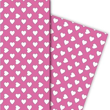 Romantisches Mit Großen Herzen Geschenkpapier Für Tolle Geschenk