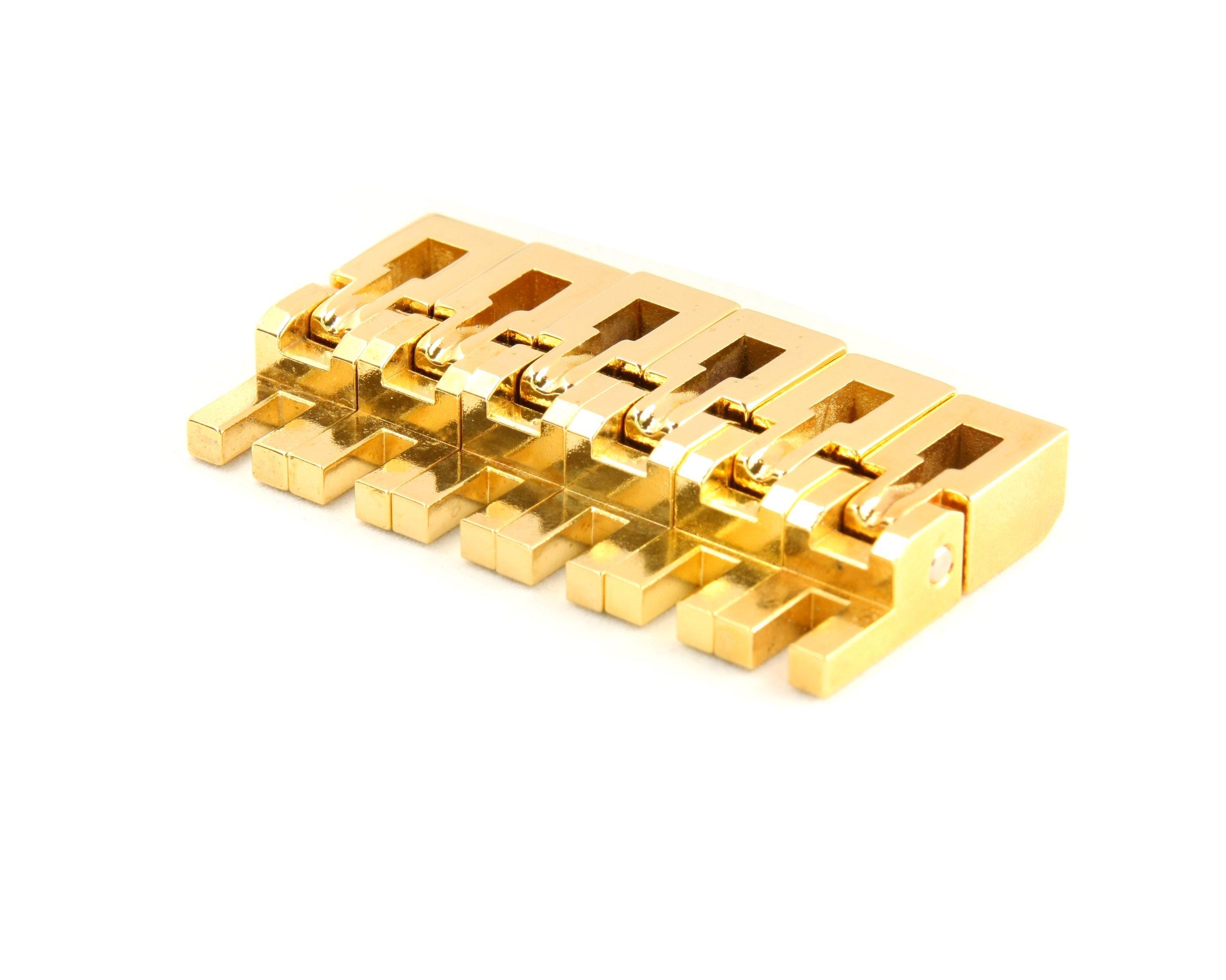 Floyd Rose Bridge Saddles (Set of 6) Gold