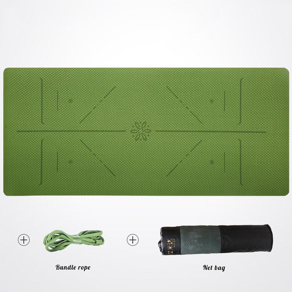 QAR Geruchlose Rutschfeste Anfänger Dünne Abschnitt Fitness Erweitert Yoga-Matte Yoga Matte (Farbe   Cyan, größe   0.23in)