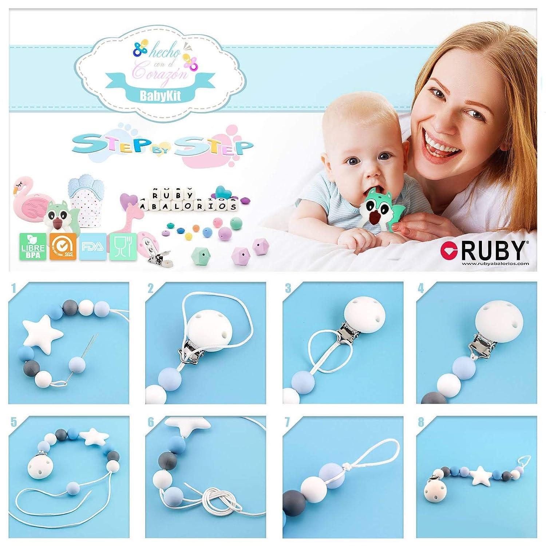 RUBY nature schnullerkette holz mit silikon,holzspielzeug Kit 4 Schnullerkette aus holz baby holz schnuller clip