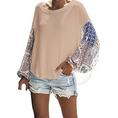 Damen Langarm Shirt Frashing Elegantes Hemd Frauen Casual Langarm T