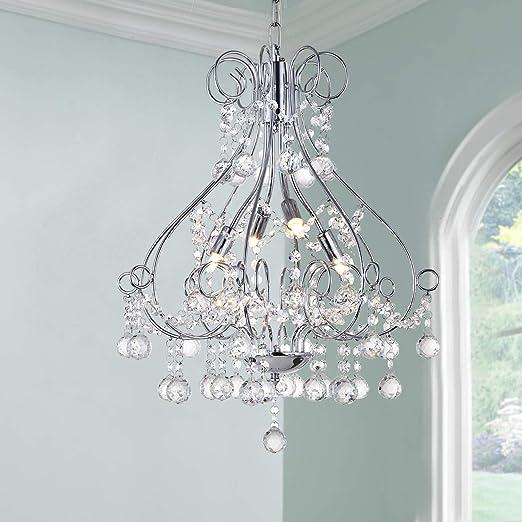 Lámpara colgante moderna Cristal Gota de lluvia Iluminación ...