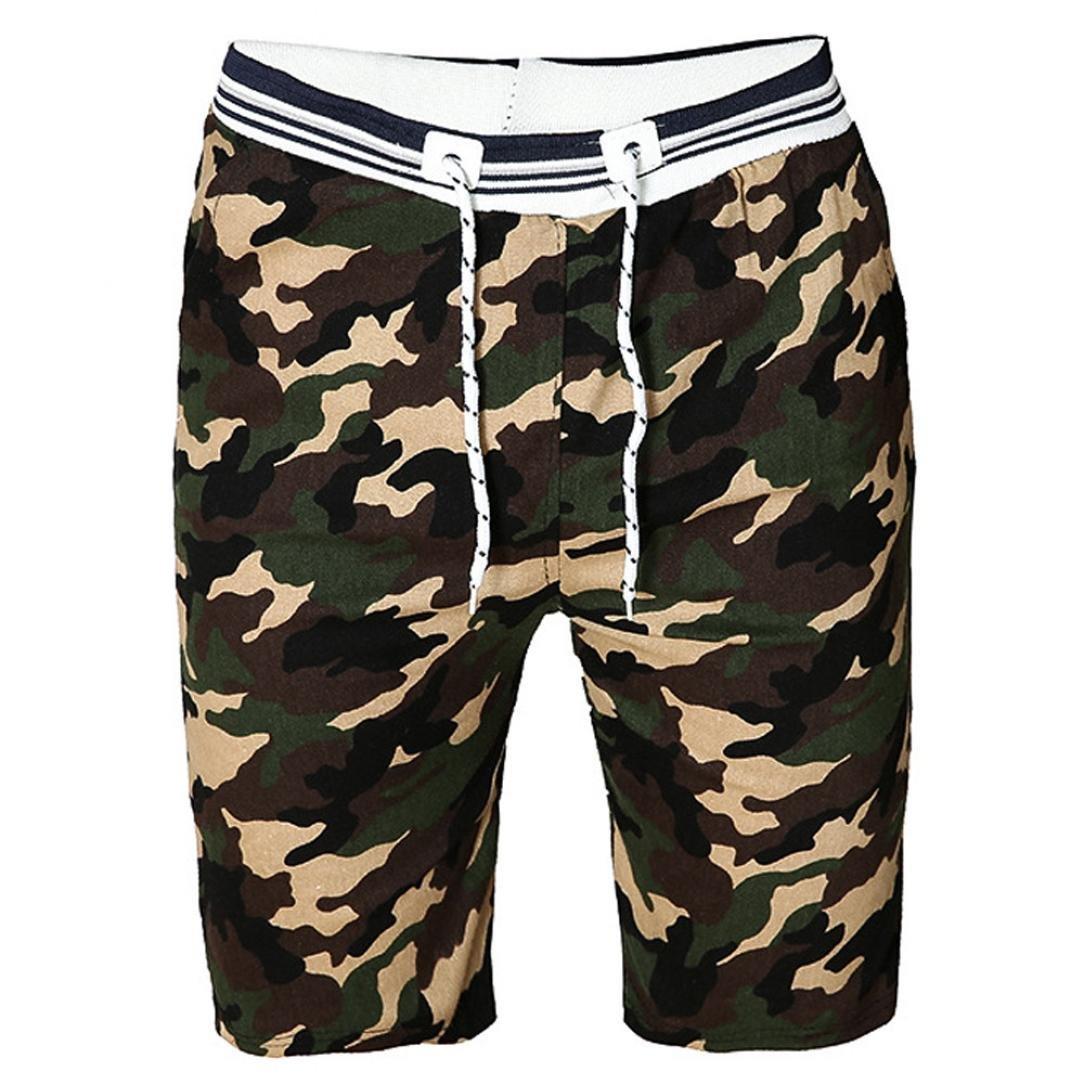 LuckyGirls Pantalones Hombres Cortos Originales Camuflaje Casuales Pantalones de Gimnasio Running Playa Suelto Pantalón Cortocircuitos del Ejercicio de la Rápido-Sequedad