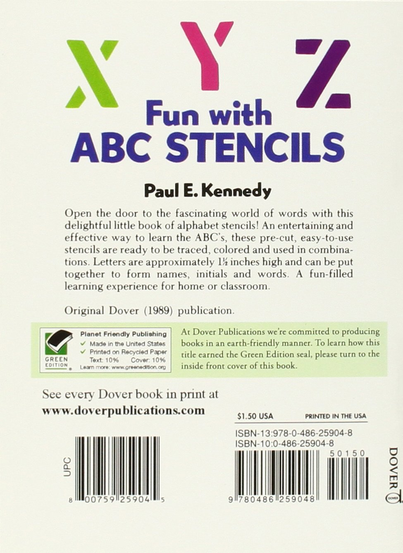 fun with abc stencils dover stencils paul e kennedy