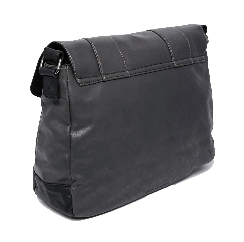 0c0d19009f French Connection Mens Messenger Bag Shoulder Strap Laptop Sleeve Charcoal  Black  Amazon.co.uk  Shoes   Bags
