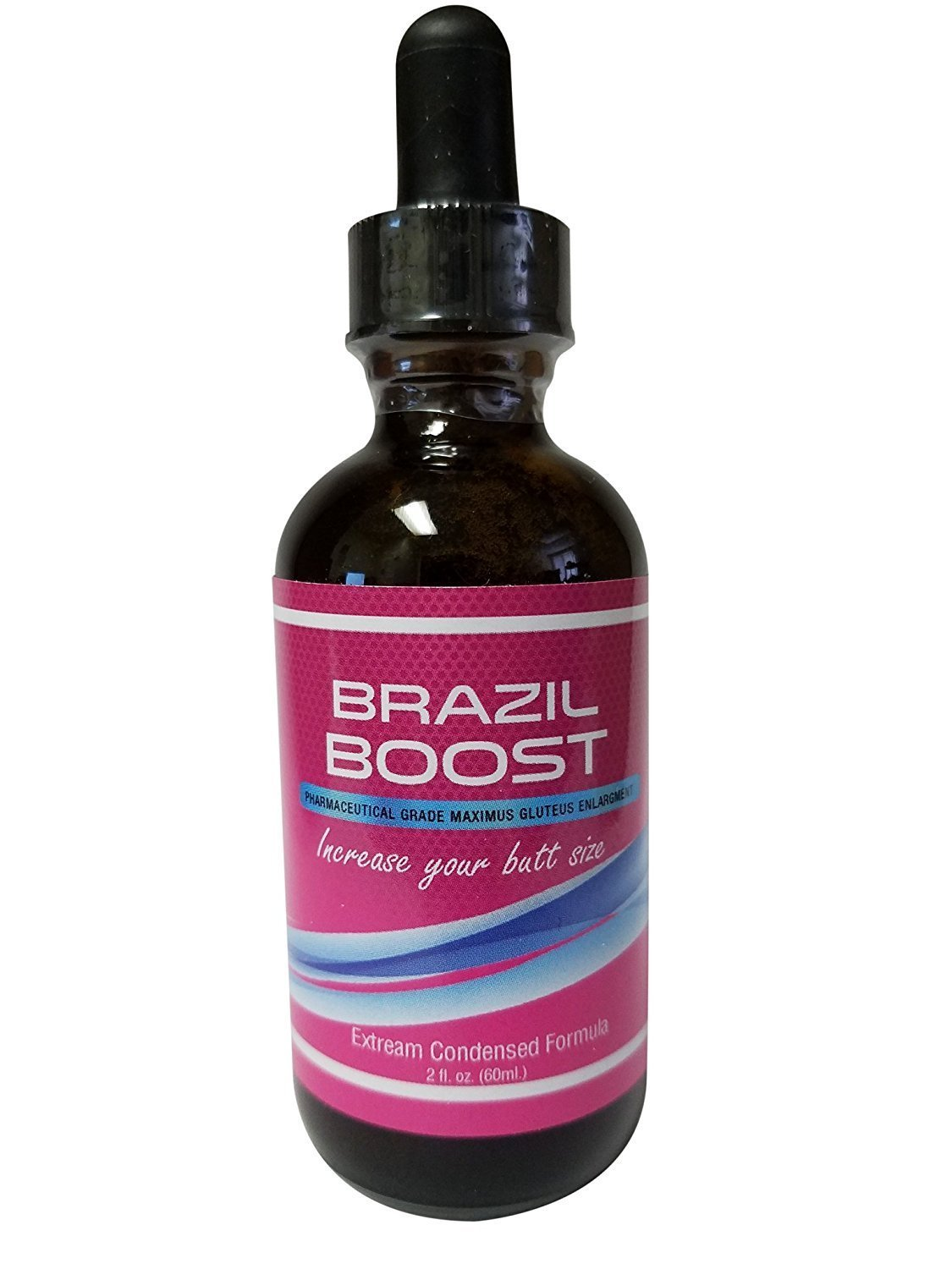 BRAZIL BOOST - 80 % more effective than pills - Pharmaceutical Grade - 30 day Supply - Official Distributor - Max Strength - Butt Enhancement