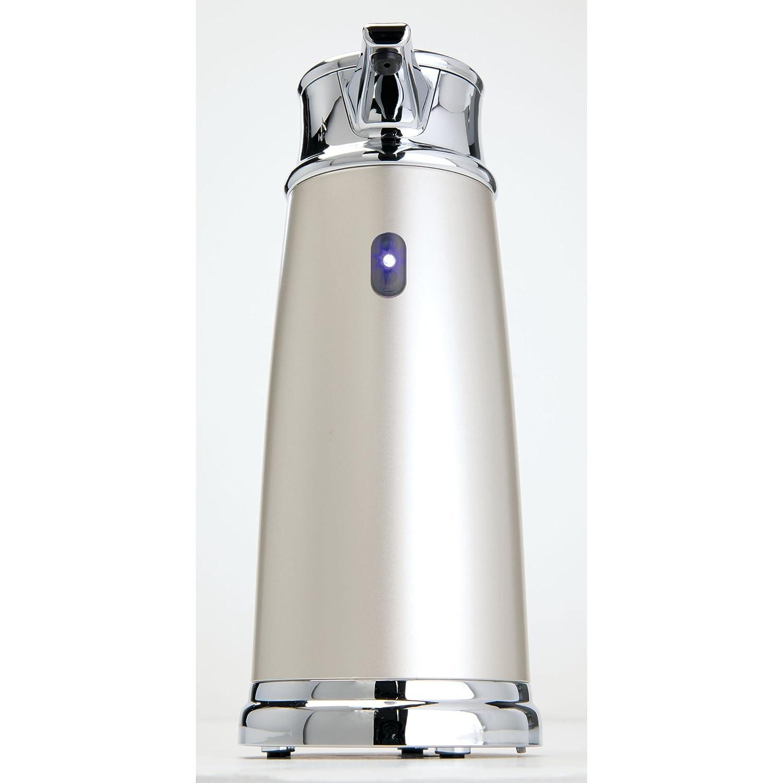 mDesign Dispensador de jabón automático sin contacto - Dosificador eléctrico de plástico para cocina y baño - Dispensador de líquidos antideslizante con ...