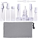 Travel Bottle Set Travel Size Toiletries Liquid Containers with Portable Travel Mesh Bag, 16 Pieces