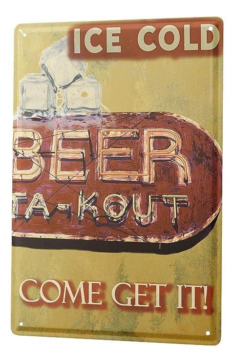 Cartel de chapa Placa metal tin sign Bar De Cerveza Pub ...