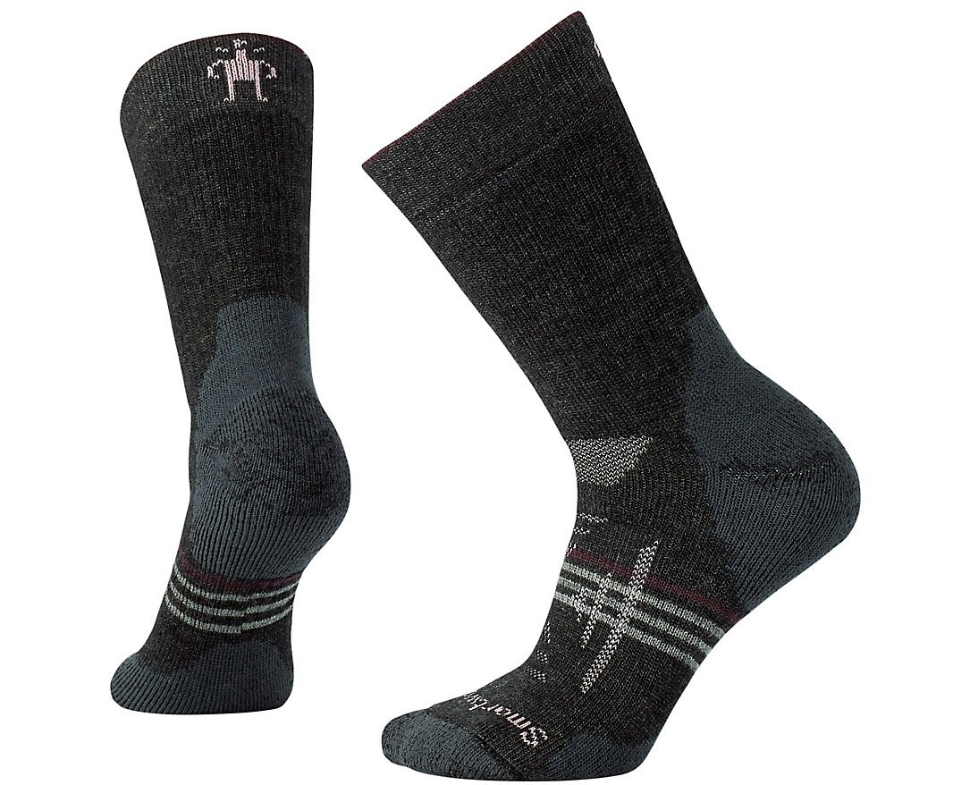 SmartWool Women's PhD Outdoor Heavy Crew Socks (Charcoal) Large by SmartWool