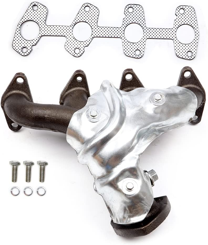 QUALINSIST Stainless Steel Exhaust Manifold Kit 674-400 Fit for 1998-2003 Chevrolet 2.2L 1998-2003 GMC 2.2L 1998-2000 Isuzu 2.2L Exhaust Kit,No Leak /& High Performance