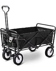 D4P Display4top Carro Plegable de Mano Carro Transporte para jardín Carro para Playa Carga 80kg (