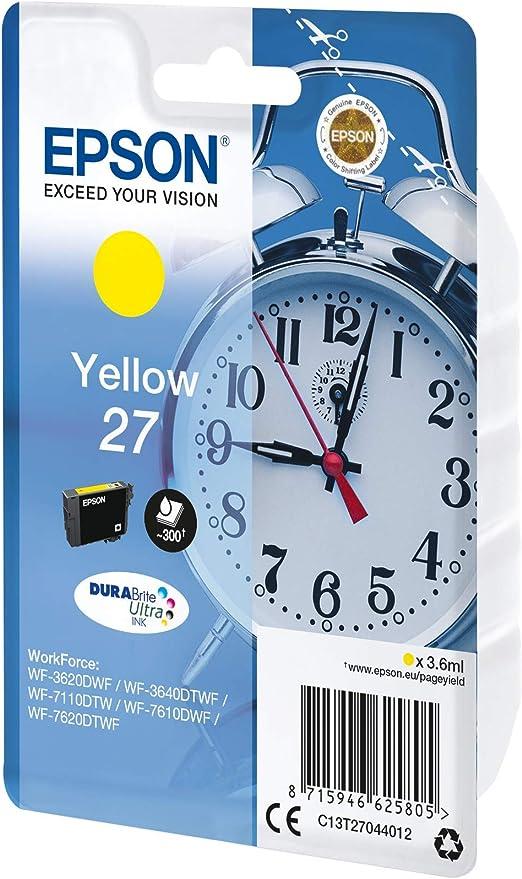 Epson 27 DURABrite Ultra - Cartucho de tinta para impresoras (Cian ...